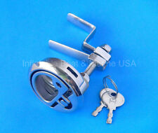 "Boat Turning Lock Latch Lift Handle Ring Locking -2 3/8"" Marine Stainless Steel"