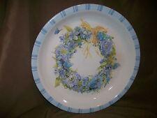 """(Imperfect) Hallmark Marjolein Bastin 11.5"""" Serving Bowl Blue Flower Wreath"""