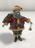 Old Style Santa Figurine Vtg Table Top Display Christmas Ornament Holiday Decor