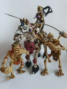 Skeleton Warriors, 1994 Mixed Lot with horse and 2 x warriors