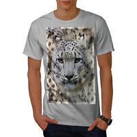 Wellcoda Big cat Beast Wild Mens T-shirt, Marbled Graphic Design Printed Tee
