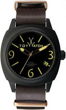 Toy Watch IC03BR Men's Brown Black Icon Leather Strap Watch 5298