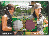 Walking Dead Evolution Dual Costume Wardrobe Card Daryl & Rosita Green 19/25
