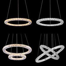 Modern Ring Crystal Chandelier Pendant LED Ceiling Lamp Lighting Light Fixtures
