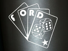 1 x 2 opz ADESIVI FORD POKER CARTE STICKER TUNING Shocker Decal Illest NUOVO