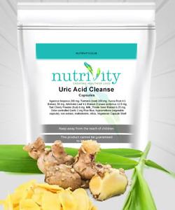 Uric Acid Cleanse Capsules Healthy Uric Acid Level Kidneys Support Nutrivity UK