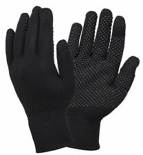 Touch Screen Gloves Black With Gripper Dots Rothco 8516