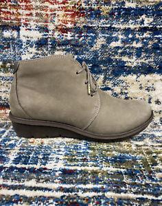 DANSKO Joy Nubuck Chukka Boot Lace up Bootie Walnut Leather Size 39 / 8-8.5 US
