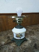 Accurate Casting Co. Large Vintage Hurricane Candelabra Lamp Roses Floral WORKS