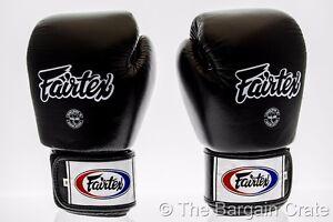 Fairtex Tight Fit Universal Muay Thai/Boxing Gloves - Black - BGV1 - Weight 16