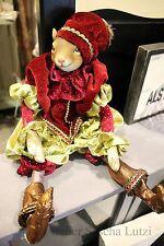 Katherine's Collection ardilla personaje muñeca Pump pantalones chaqueta de terciopelo 42cm