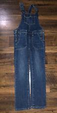 Cat & Jack Overalls Denim Blue Jean Girls 7-8 Pants Coveralls