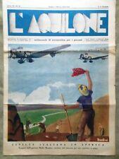 L'Aquilone del 8 Marzo 1936 Aeronautica Corelli Centocelle Aerodinamica Torino