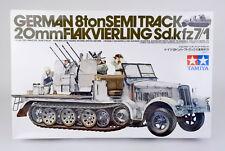 TAMIYA 1/35 SCALE 35050 GERMAN WWII SD.KFZ 7/1 8-TON SEMITRUCK MODEL KIT