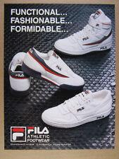 1986 Fila Tennis Shoes Sneakers Hi-Tops vintage print Ad