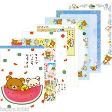 San-X Rilakkuma Memo Pad w/ Stickers Summer Vacation Series MM32501 - 5 designs