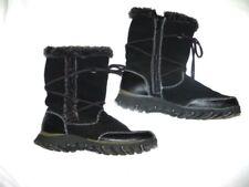 EUC Womens Size 8  Skechers Black Leather Winter Snow Boots