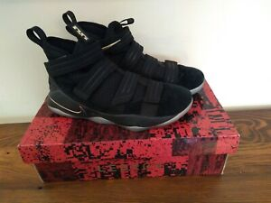 Nike Zoom LeBron Soldier XI SGF Finals Mens Shoes Black Gold 897646-002 Size 9.5