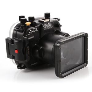 40m Waterproof Diving Underwater Housing Case For Fuji X-T10 Camera 16-50mm Lens
