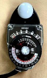 Sekonic Light Meter Studio Deluxe Model L-398 Vintage Exposure Japan 1976