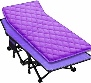 Folding Rest Bed W/ Mattress Cot Sleeper Roll Away Guest Camping Office Bed Gift