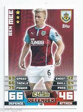 2014 / 2015 EPL Match Attax Base Card (42) Ben MEE Burnley