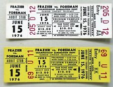 pair 1976 FRAZIER vs FOREMAN unused full boxing tickets. 2 different