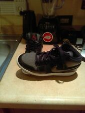 Used Boy's size 5.5 Y Nike Air Tennis/high top shoes (gray & Black)