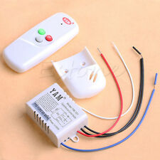 Wireless 1Way ON/OFF 110V Anti-interference Light Lamp Remote Control Switch