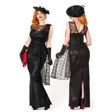 NWT $190 TATYANA 'Black Widow' Full Length Dressy Retro Gothic Gown - 3XL