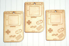 Kawaii Cute Retro Wooden Old School Gameboy x 3 lot Kitsch 80s Games Console
