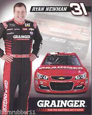 "2017 RYAN NEWMAN ""GRAINGER"" #31 MONSTER ENERGY NASCAR CUP POSTCARD"