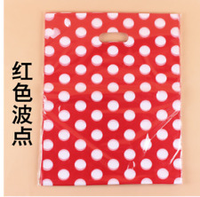 50/100pcs Plastic Shopping Packing Gift Bag Wedding Party Gift Wrapping Supplies