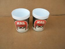 Vintage XAS Michelin Thermo Serve Mugs Very Good Condition 1960's