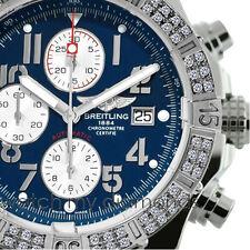 Breitling Super Avenger Aeromarine A13370 Blue Dial Arabic Stainless Steel