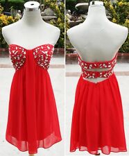 NWT Morgan & Co $150 Red Prom Cocktail Party Dress 5