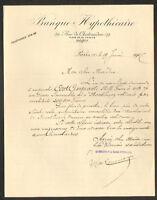 PARIS (IX°) BANQUE HYPOTHECAIRE en 1907