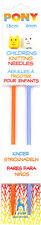 Pony Childrens Kids Knitting Needles Pins - Sizes From 3.25mm - 4.5mm