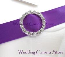 24 Round Rhinestone Ribbon Buckles for Wedding Card