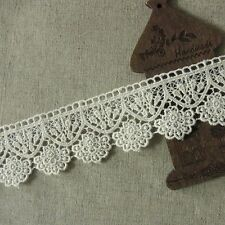1yards Antique Style scalloped Embroidery Cotton Fabric Crochet Lace Trim