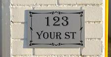 Custom House Address Sign or House Number 30 By 20cm