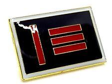 Enamel Pin Badge Master & Slave Pride Rectangular Flag Gold Plated Freedom