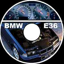 BMW E36 318i 323i 325i 328i M3 3 Series 1992-1998 workshop repair manual CD