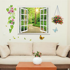 3D Window Sun Garden Room Home Decor Removable Wall Stickers Decals Decorations