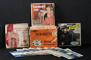 Vintage Model G Sawyer GAF Viewmaster with box and 33 ALL VINTAGE Reels