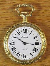 Endura Dynasty Swiss 17 Jewels Windup Gold Plated Men's Pocket Watch