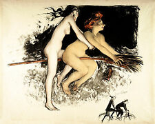 Jean Veber  The Witches  Wall Art  Canvas