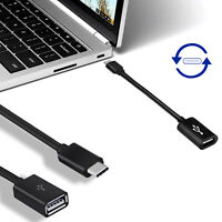 USB 3.1 Type C Male to USB 2.0 Female Connector Data Cable Cord OTG Host Adapter