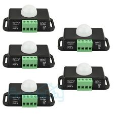 5X Automatic DC12V-24V Body Infrared PIR Motion Sensor Detector Switch For Light