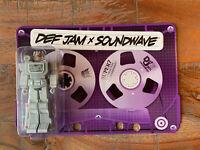 RARE!  Unpunched tab - SOUNDWAVE TRANSFORMERS FIGURE SUPER 7 DEF JAM CON
